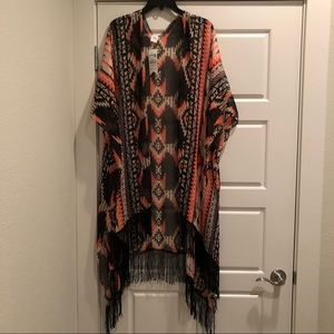 Tribal Patterned Kimono - OS
